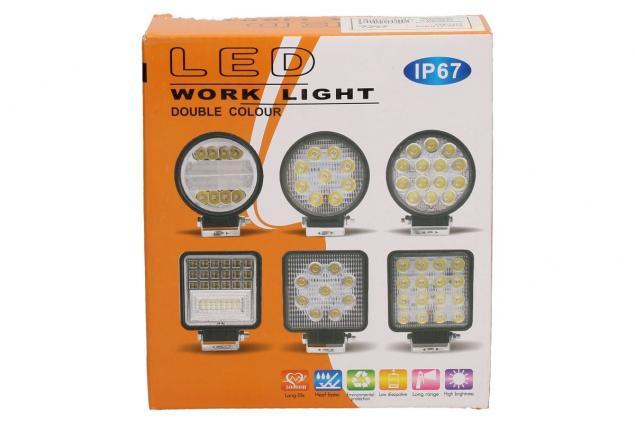 Foto 7 - LED pracovní světlo 24W double colour hranaté
