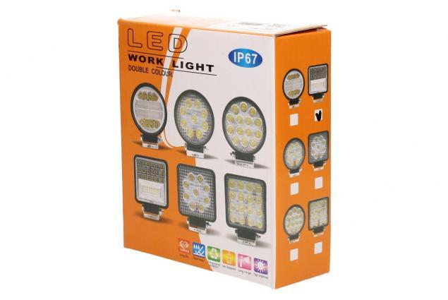 Foto 6 - LED pracovní světlo 24W double colour hranaté