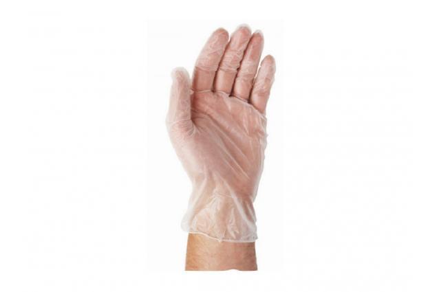 Foto 6 - Jednorázové vinylové rukavice velikost M - 8, balení 10 kusů