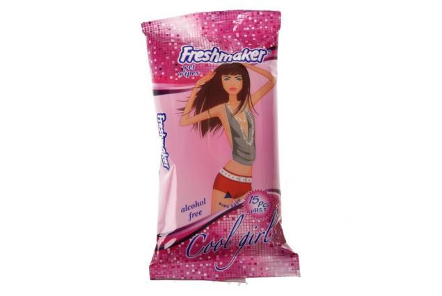 Foto 2 - Freshmaker vlhčené ubrousky 15ks Cool Girl