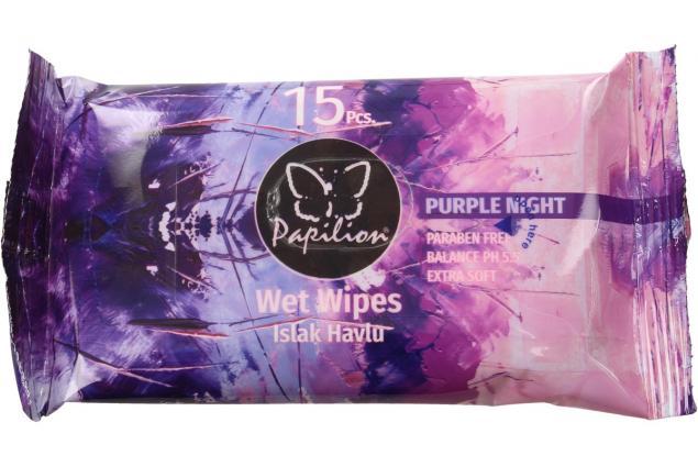 Foto 2 - Papilion vlhčené ubrousky 15ks Purple Night