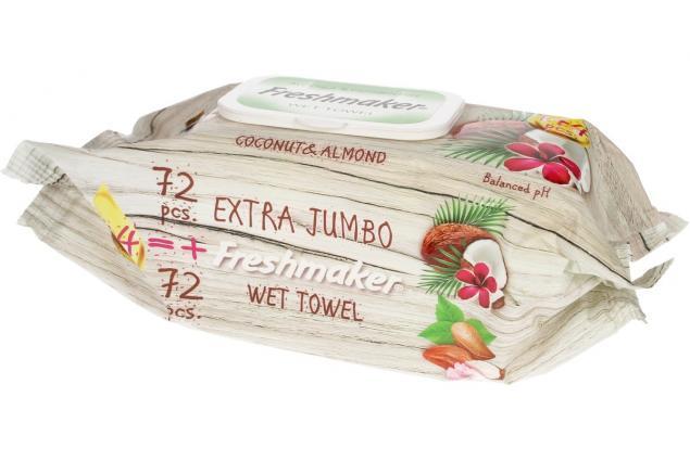 Foto 5 - Freshmaker vlhčené ubrousky 144ks Coconut & Almond