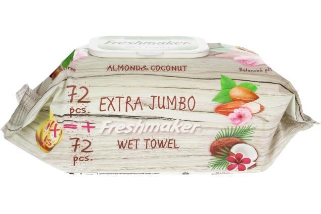 Foto 3 - Freshmaker vlhčené ubrousky 144ks Coconut & Almond