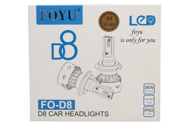 Foto 2 - LED autožárovka FOYU D8 H4 CANBUS 10-30V 36W