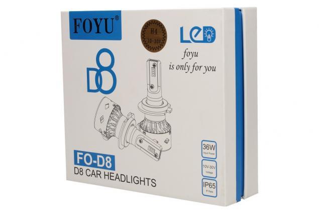 Foto 3 - LED autožárovka FOYU D8 H4 CANBUS 10-30V 36W