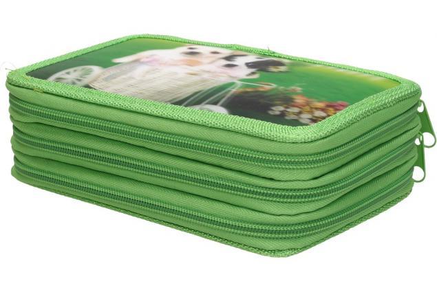 Foto 2 - Třípatrový plně vybavený penál 3D Zelený