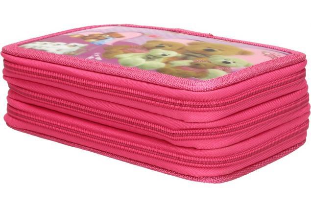 Foto 2 - Třípatrový plně vybavený penál 3D Růžový