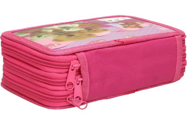 Foto 3 - Třípatrový plně vybavený penál 3D Růžový