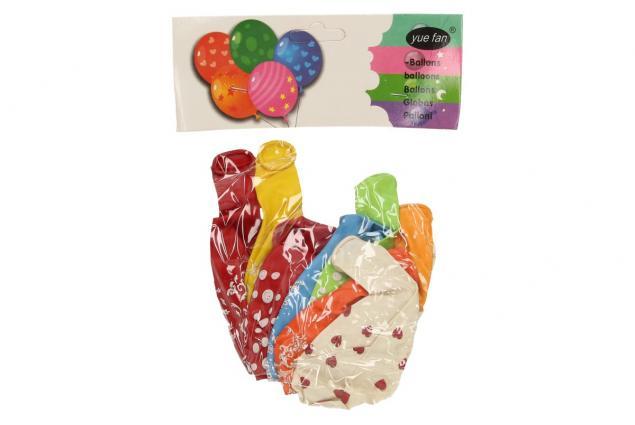 Foto 3 - Vzorované různobarevné balonky