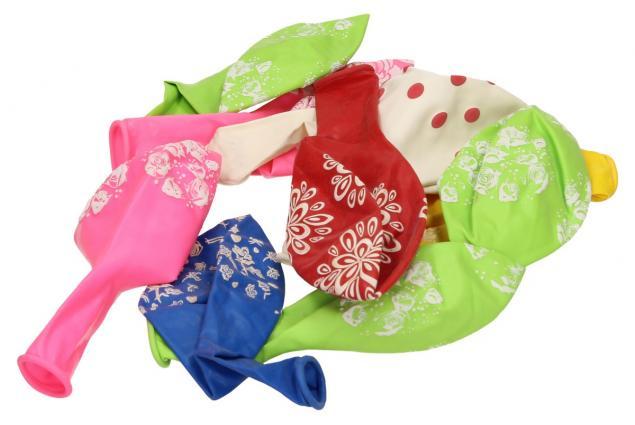 Foto 2 - Vzorované různobarevné balonky
