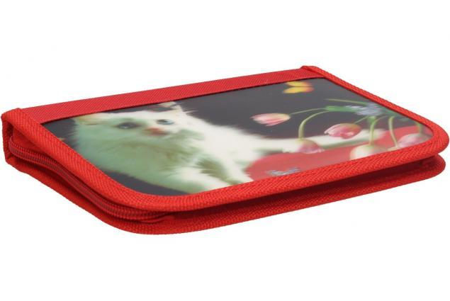 Foto 2 - Jednopatrový plně vybavený penál 3D Červený