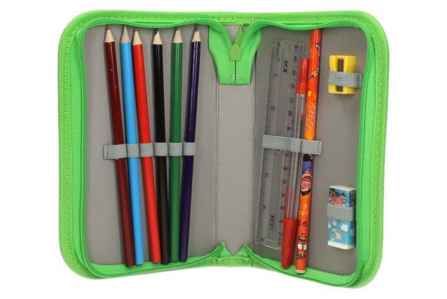 Foto 5 - Jednopatrový plně vybavený penál Zelený