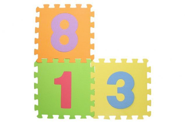 Foto 4 - Pěnové puzzle čísla 30x30 cm