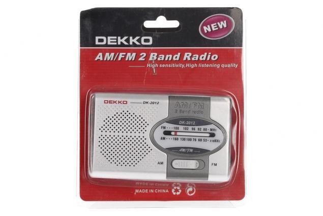 Foto 8 - Mini rádio Dekko AM/FM 2 Band