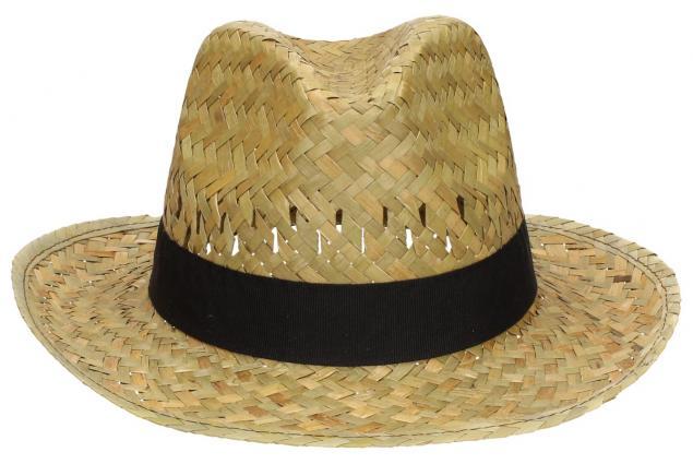 Foto 2 - Slaměný kovbojský klobouk s černým páskem malý