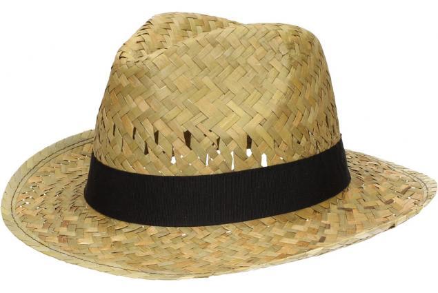 Foto 3 - Slaměný kovbojský klobouk s černým páskem malý