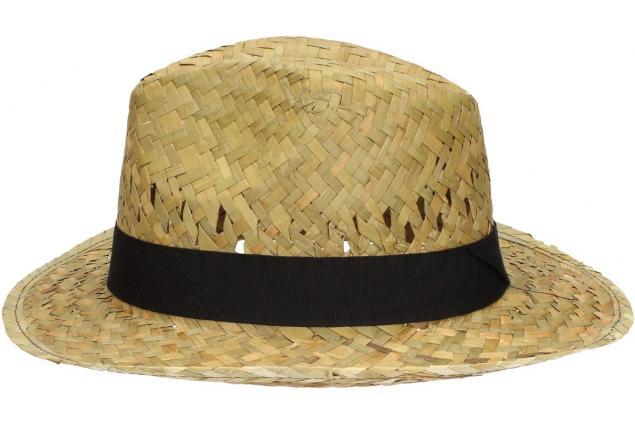 Foto 4 - Slaměný kovbojský klobouk s černým páskem malý