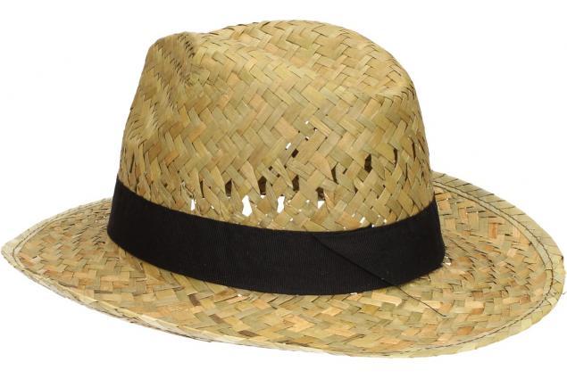 Foto 5 - Slaměný kovbojský klobouk s černým páskem malý