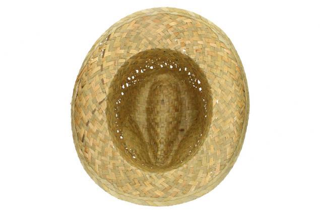 Foto 6 - Slaměný kovbojský klobouk s černým páskem malý