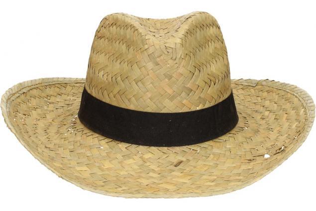 Foto 2 - Slaměný kovbojský klobouk s černým páskem velký