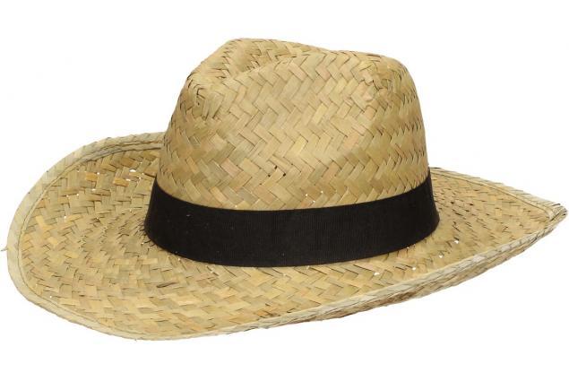 Foto 3 - Slaměný kovbojský klobouk s černým páskem velký