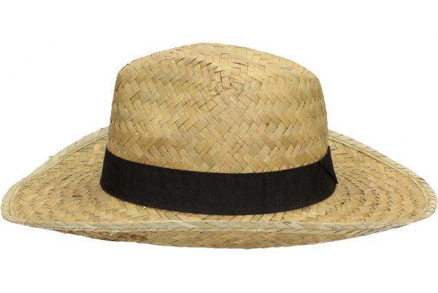 Foto 4 - Slaměný kovbojský klobouk s černým páskem velký