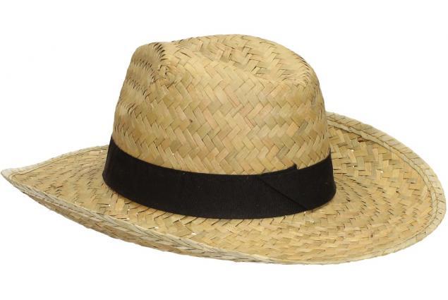 Foto 5 - Slaměný kovbojský klobouk s černým páskem velký