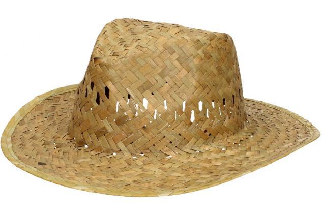 Foto 3 - Slaměný kovbojský klobouk bez pásku