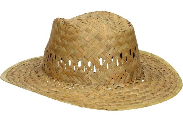 Foto 5 - Slaměný kovbojský klobouk bez pásku
