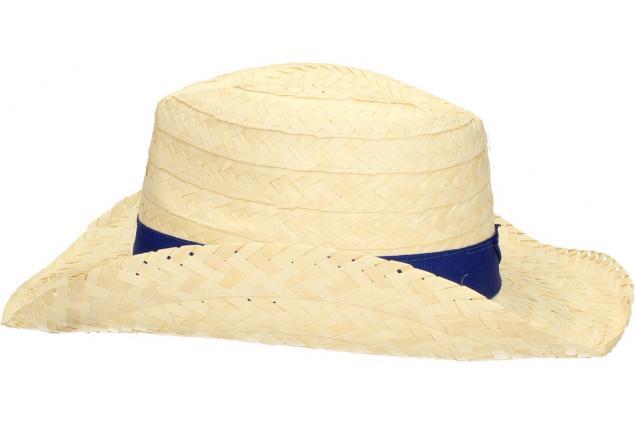 Foto 4 - Slaměný kovbojský klobouk s modrým páskem