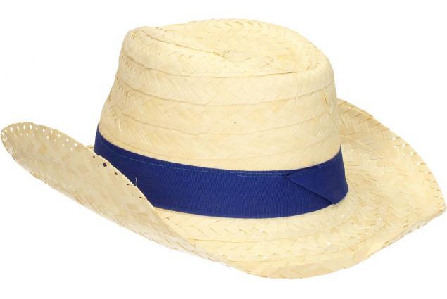 Foto 5 - Slaměný kovbojský klobouk s modrým páskem