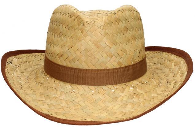 Foto 2 - Slaměný kovbojský klobouk s hnědým páskem