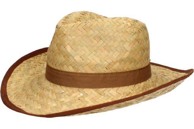 Foto 3 - Slaměný kovbojský klobouk s hnědým páskem
