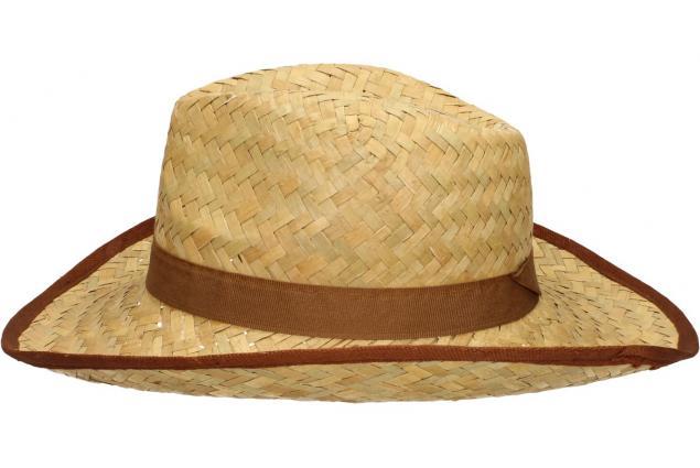 Foto 4 - Slaměný kovbojský klobouk s hnědým páskem
