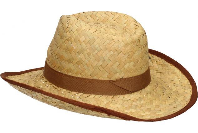 Foto 5 - Slaměný kovbojský klobouk s hnědým páskem