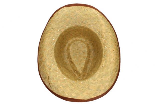 Foto 6 - Slaměný kovbojský klobouk s hnědým páskem
