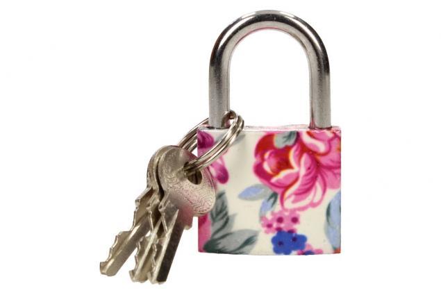 Foto 2 - Malý barevný bezpečnostní zámek s klíči 32 mm na kufr