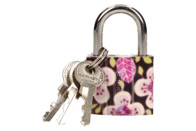 Foto 4 - Malý barevný bezpečnostní zámek s klíči 32 mm na kufr