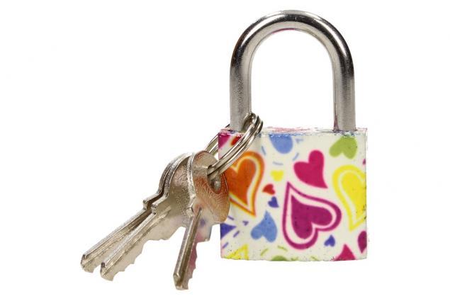 Foto 5 - Malý barevný bezpečnostní zámek s klíči 32 mm na kufr