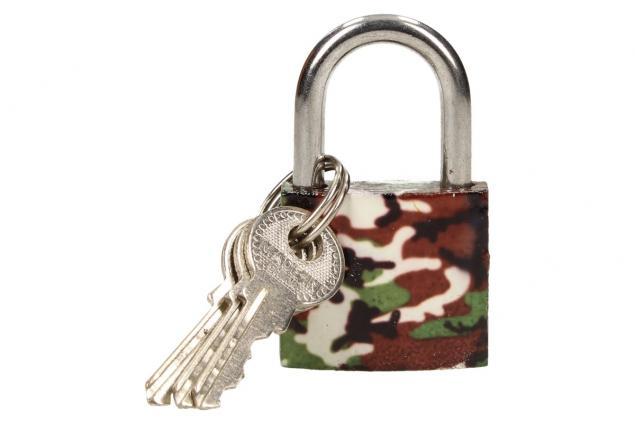 Foto 6 - Malý barevný bezpečnostní zámek s klíči 32 mm na kufr