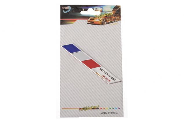 Foto 3 - Kovová samolepka Francie Motorsport sline 9 x 1,5 cm