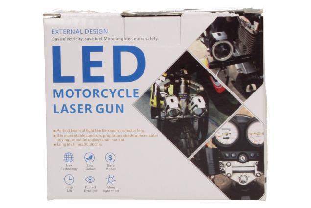 Foto 8 - Přídavné LED čočkové světlo na motorku Laser Gun 10W