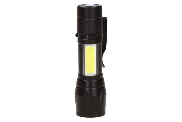 Foto 6 - LED Kapesní výkonná nabíjecí svítilna s klipem