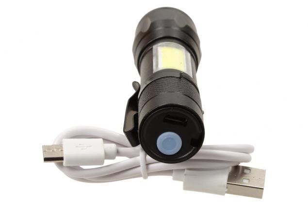 Foto 5 - LED Kapesní výkonná nabíjecí svítilna s klipem