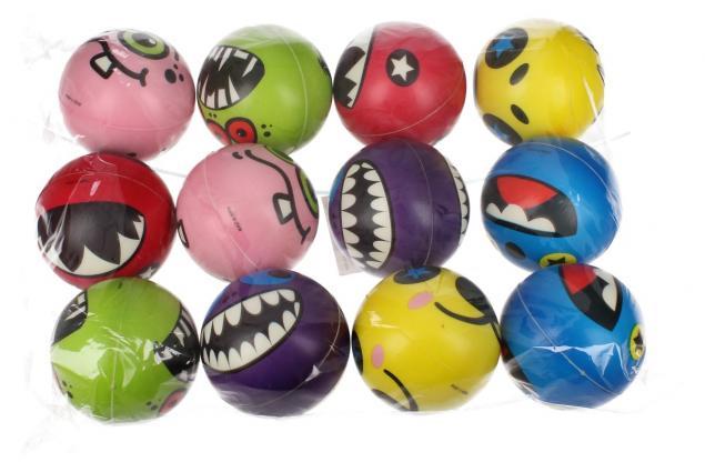 Foto 2 - Pěnové míčky do vody 12ks legrační monstra