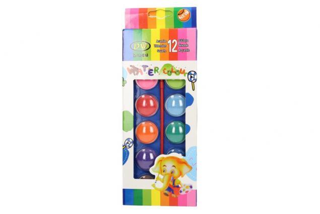 Foto 2 - Vodové barvy 12 barev se štětcem velké