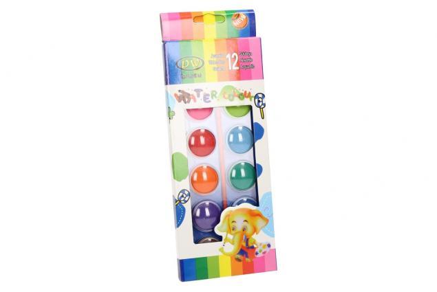 Foto 5 - Vodové barvy 12 barev se štětcem velké