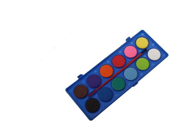 Foto 6 - Vodové barvy 12 barev se štětcem velké