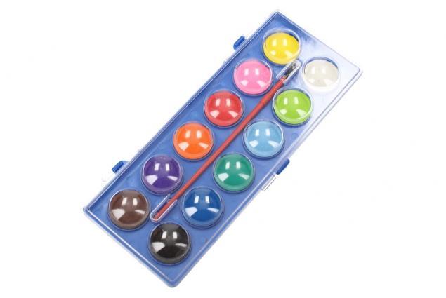 Foto 4 - Vodové barvy 12 barev se štětcem velké