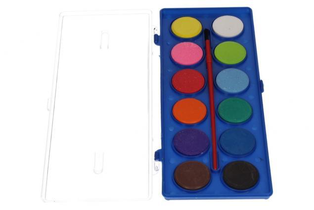 Foto 3 - Vodové barvy 12 barev se štětcem velké